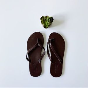 American Eagle Outfitters Brown Leather Sandals